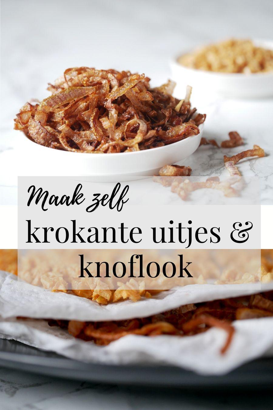 Natuurlijk kun je krokante uitjes en knoflook kant-en-klaar kopen. Maar ze zelf maken is niet moeilijk. Ze zijn zo veel lekkerder omdat ze niet verstopt zitten onder een dikke laag tarwebloem. Zelfgebakken uitjes zijn dan ook glutenvrij. t#gebakkenuitjes #zelfuitjesbakken #krokanteuitjes #knoflook #glutenvrijeuitjes