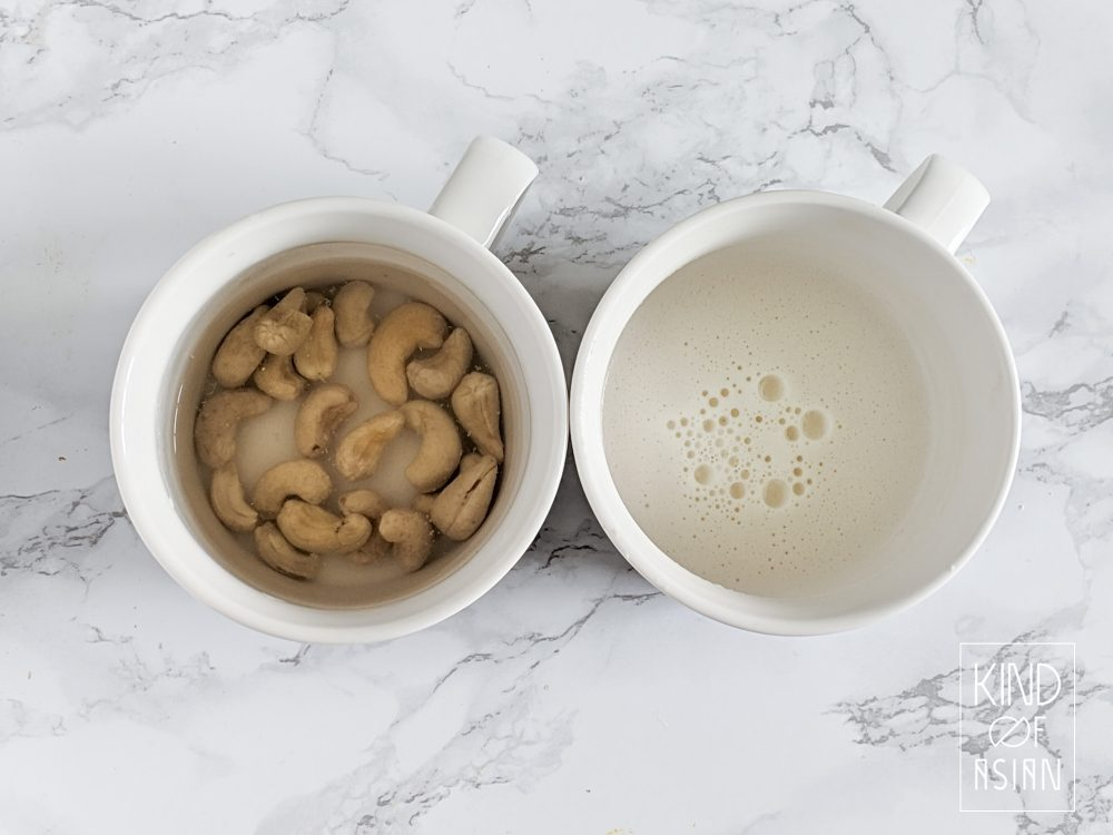Make cashewroom without having to soak the cashew nuts.