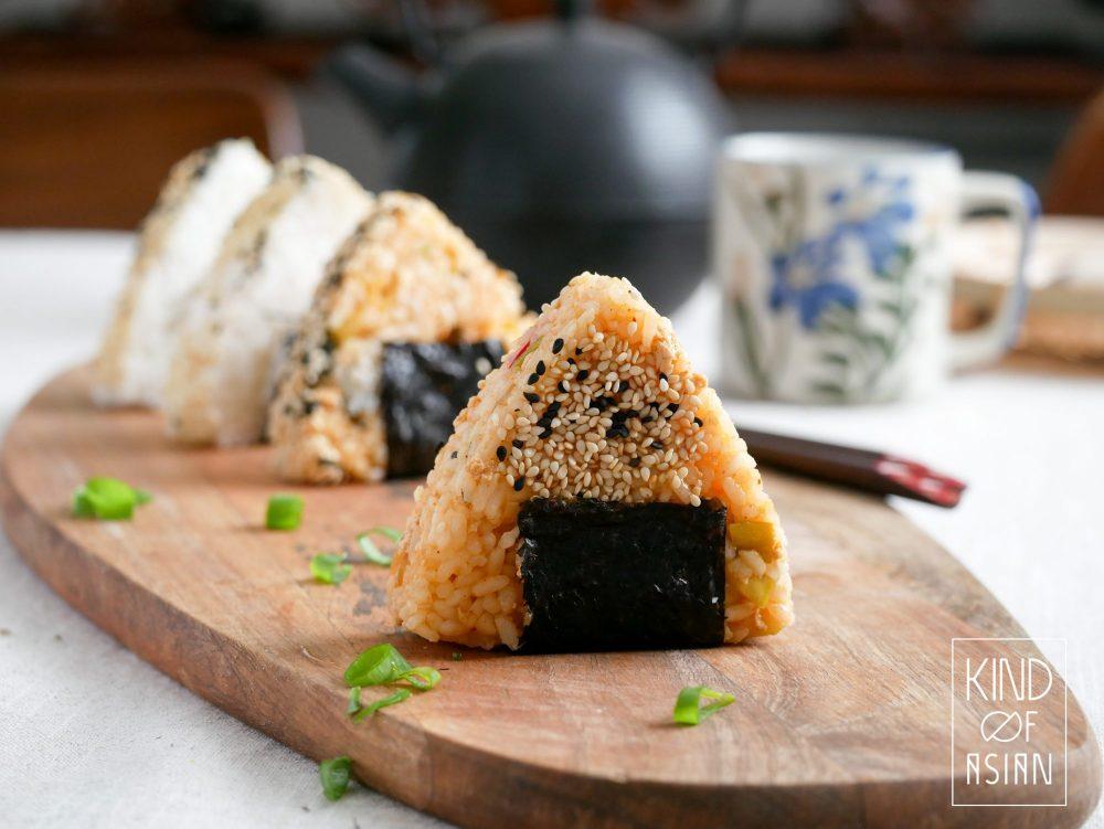 Maak van sushirijst die je overhoudt Japanse rijstballetjes (onigiri) voor de volgende dag. Heerlijk als lunch!