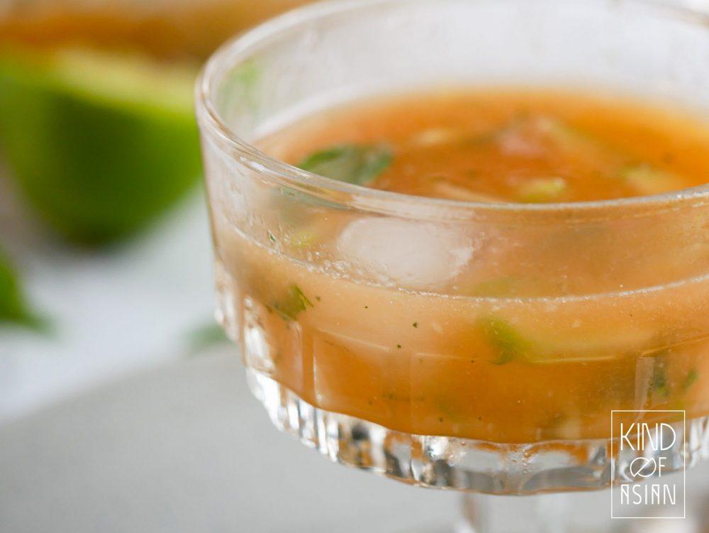 Meloen-komkommersoep