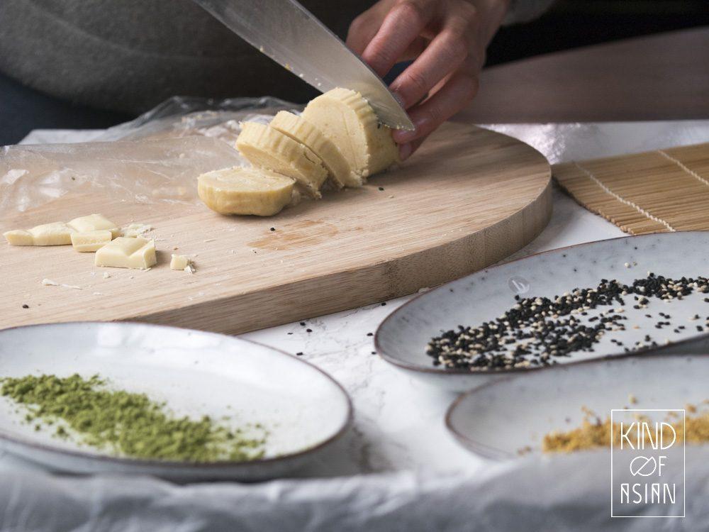 Vegan shortbread with Asian flavours