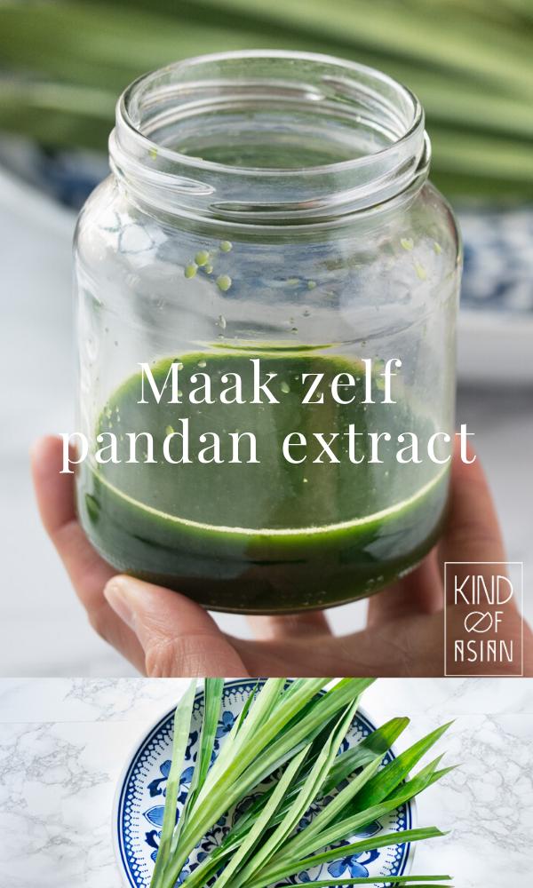 Waarom pandan uit een flesje kopen als je heel makkelijk en snel natuurlijk extract van pandanblad kan maken?