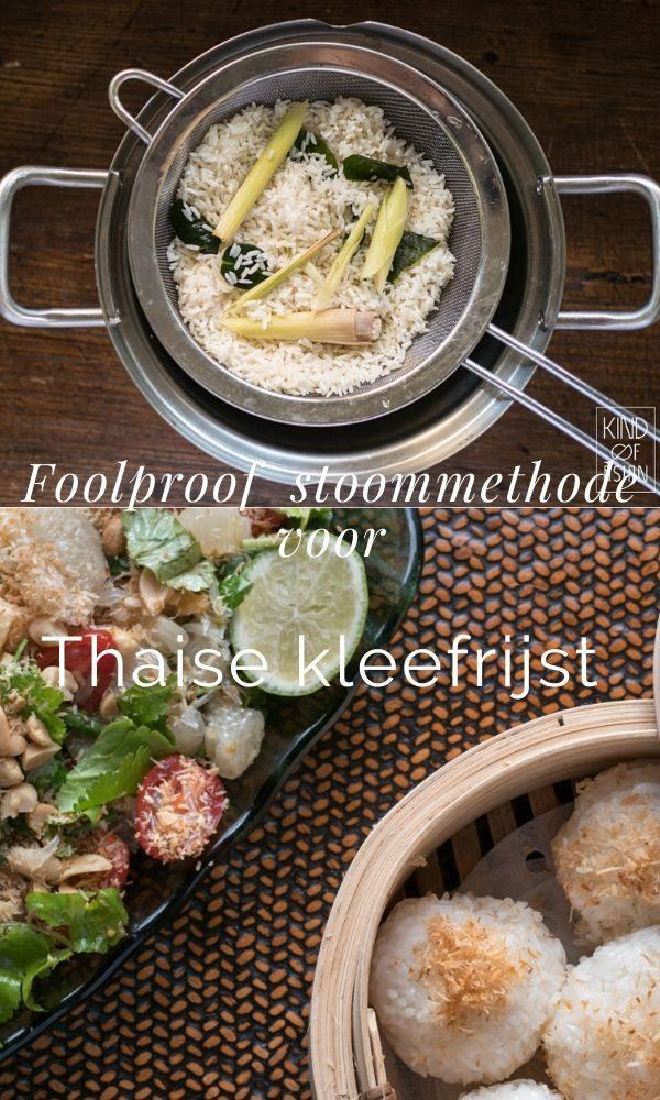 Gebruik een pan en een fijnmazige metalen zeef voor het stomen van kleefrijst.
