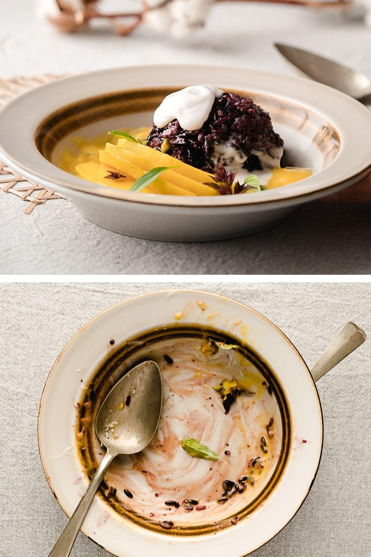 In dit recept voor 'Thaise kleefrijst met mango' combineer ik volkoren zwarte kleefrijst met romige witte kleefrijst. Zo heb je nooit papperige sticky rice!