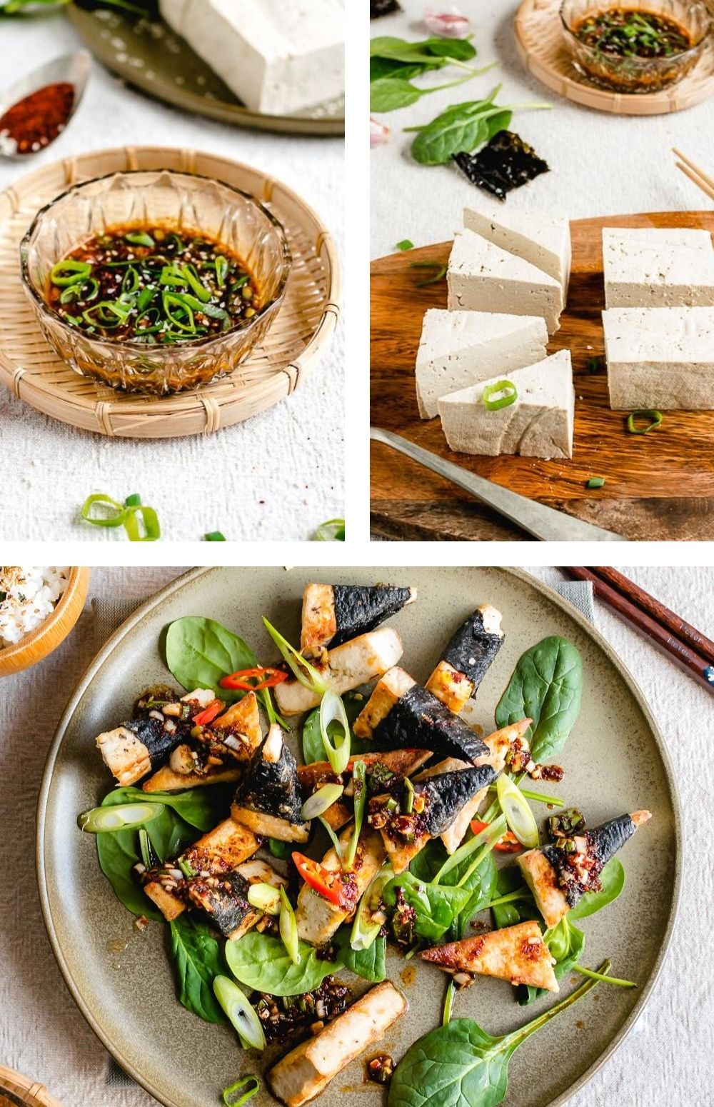 Denk je dat tofu bereiden lastig is? Niet dit recept: tofu paneren, krokant bakken en de ingrediënten voor de pittige Koreaanse saus mengen. Binnen een half uur staat het op tafel! Een snel en smaakvol vegan hoofdgerecht voor doordeweeks. #vegetarisch #Aziatisch #avondeten