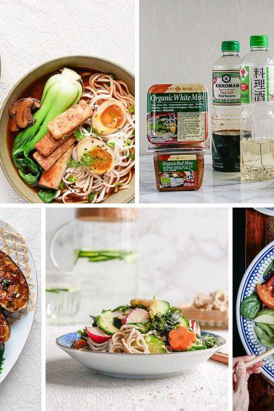 Vegan en vegetarische gerechten die je kunt maken met de essentiele Japanse smaakmakers.