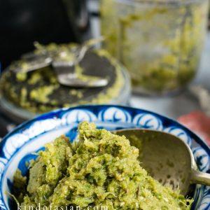 Kom met vegan Thaise groene currypasta