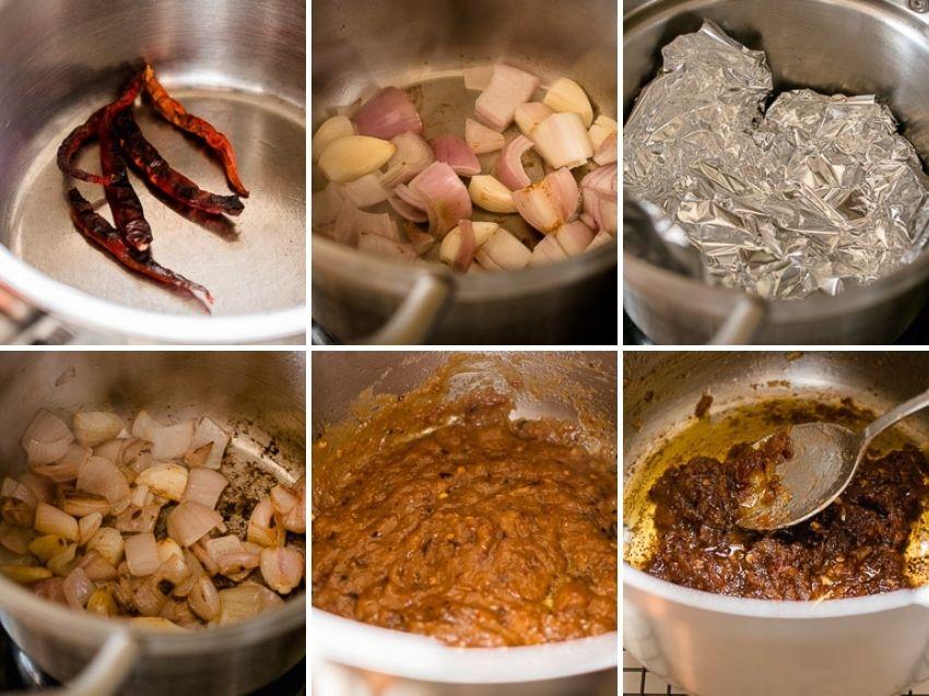 Stap voor stap instructies voor Thaise chiliipasta. Deze kleverige, gekaramelliseerde Thaise vegan chilipasta van geroosterde pepers, knoflook en sjalot is lastig om van af te blijven.