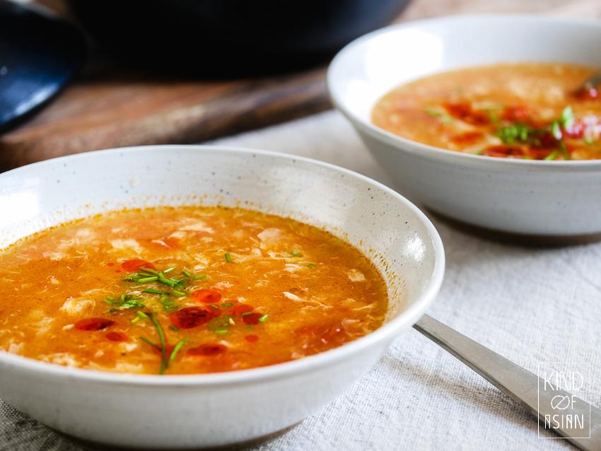 Chinese tomatensoep met ei