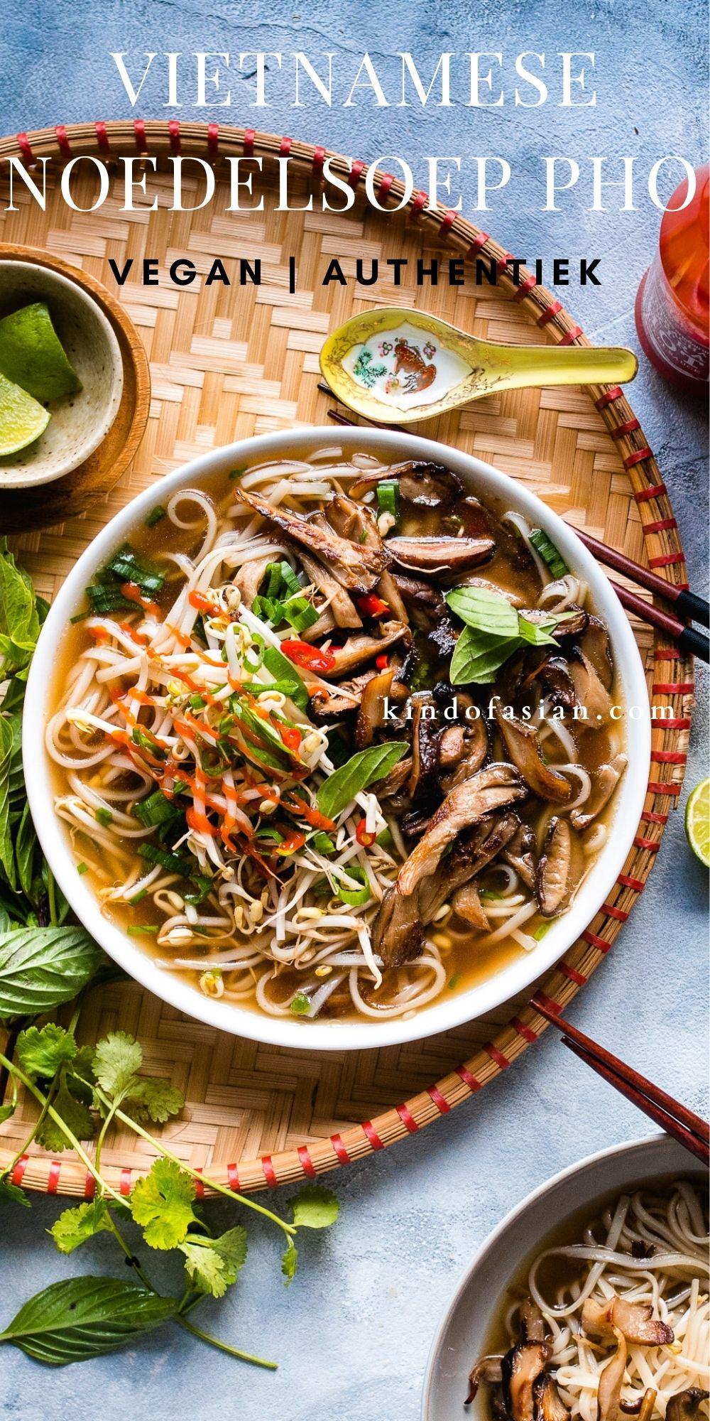 Vegan Vietnamese noedelsoep: Pho. Deze bouillon is net zo vol van smaak als de traditionele versie!