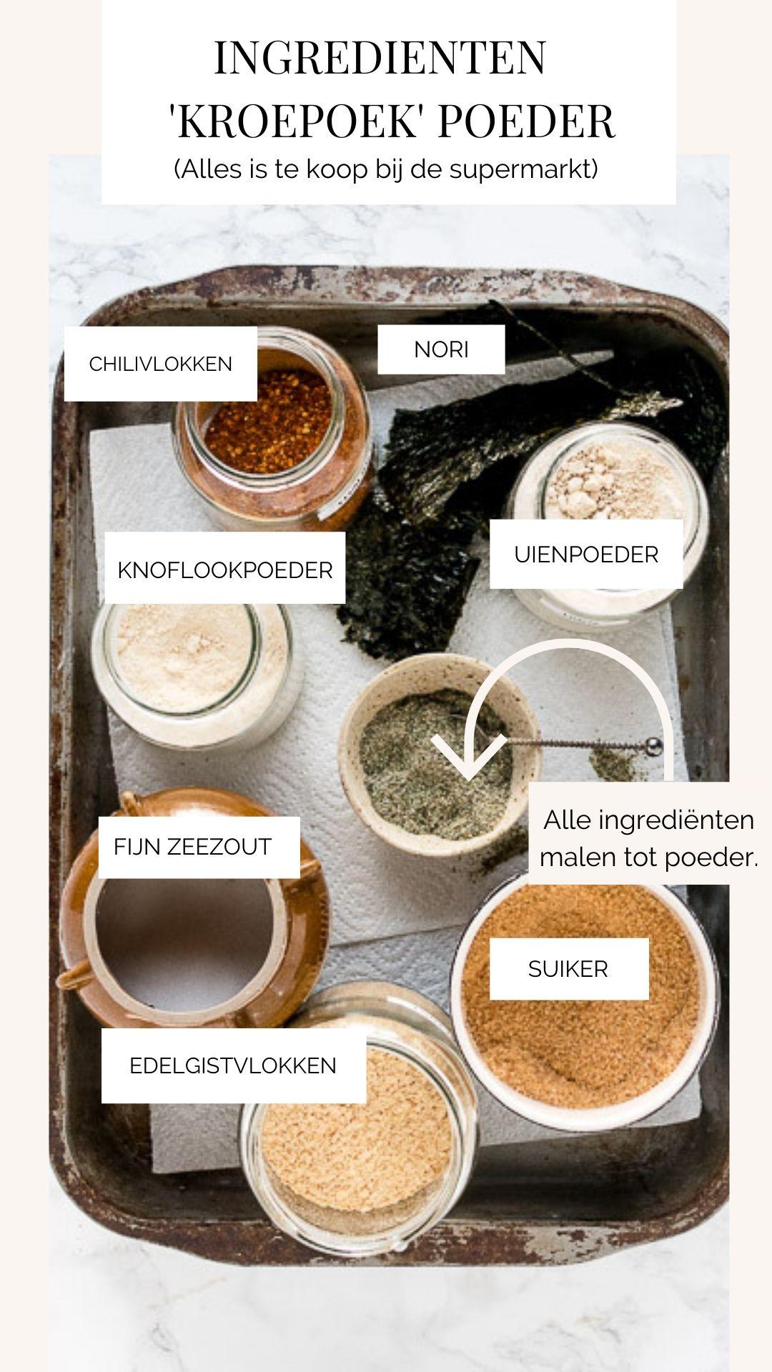 Maak met een paar makkelijk verkrijgbare ingrediënten een hartig en ziltige poedertje voor vegan crackers.