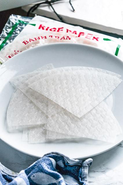 Vietnamees rijstpapier vellen
