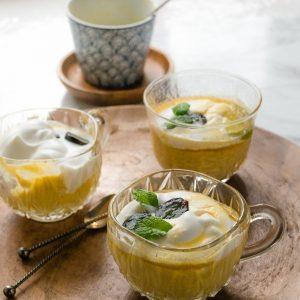 makkelijk recept vegan mangopudding met room