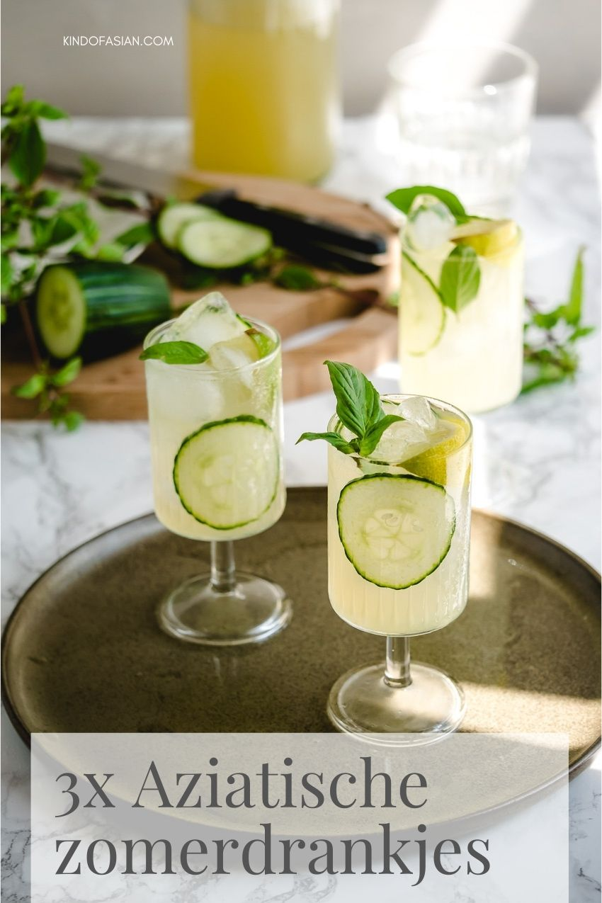 3x zomerdrankjes: maaK limonade met Thaise basilicum, citroengras of een romige., zoete smoothie met avocado.