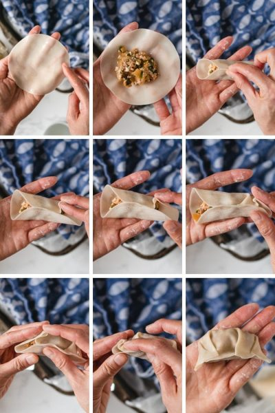 Gyoza dumplings vouwen en bewaren